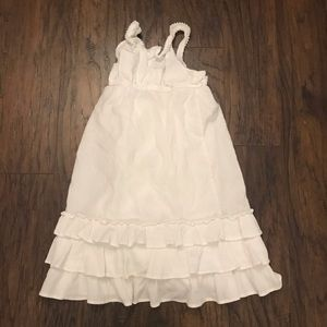 Cherokee Girls White Layered Tank Dress Size 4T